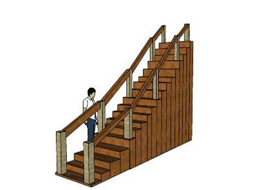 Sketchup components 3d warehouse stairs modern stairs for Outdoor furniture 3d warehouse
