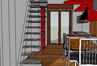 Sketchup components 3d warehouse stairs planning stairs for Outdoor furniture 3d warehouse