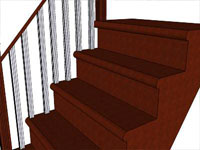Cherry Stairs in SketchUp