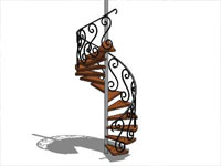 Spiral Stairs in SketchUp