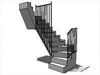 Treppe Stairs in SketchUp