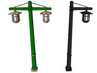 Support Chain Street Light