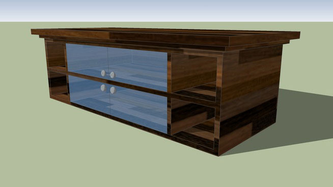 Sketchup components 3d warehouse table dark wood table for Outdoor furniture 3d warehouse