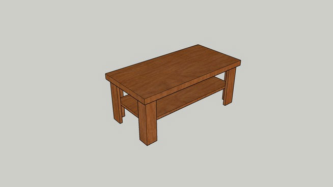 Sketchup components 3d warehouse table simple coffee table for Outdoor furniture 3d warehouse