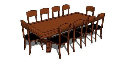 Sketchup components 3d warehouse table table and chairs for Outdoor furniture 3d warehouse
