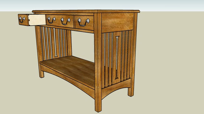Sketchup components 3d warehouse table arts and crafts for Outdoor furniture 3d warehouse