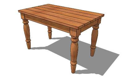 Sketchup components 3d warehouse table 3d table component for Table design sketchup