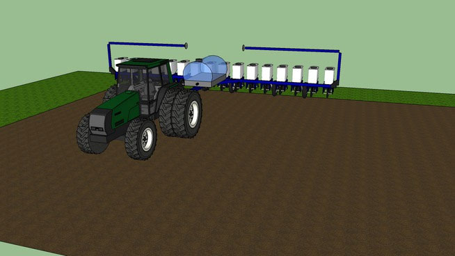 Tractor with Corn Planter