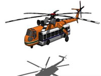 Helicopter Transpotring Bus