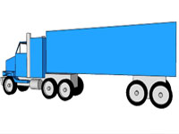 Semi Truck With One Trailer