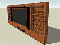 Wood Set Television in SketchUp
