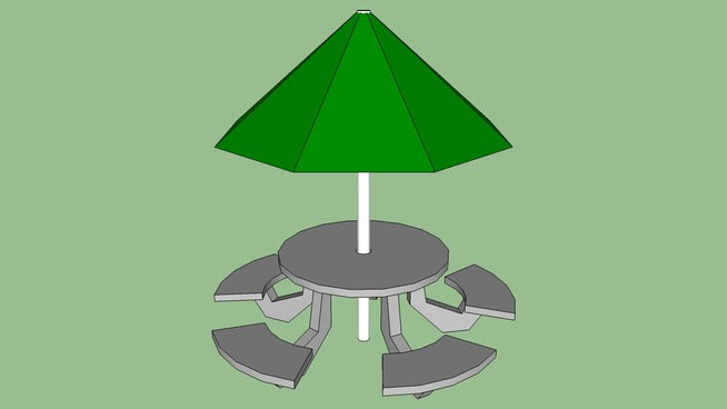 Sketchup components 3d warehouse picnic table round for Outdoor furniture 3d warehouse