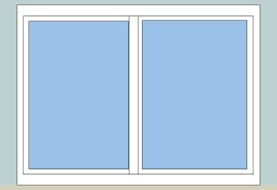 sketchup  ponents 3d warehouse window horizontal sliding window