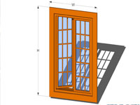 Casement Window in SketchUp