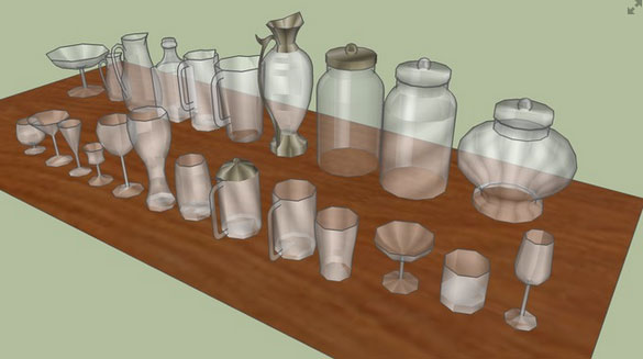 Low Poly Glass Collection